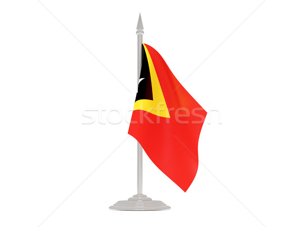 Flag of east timor with flagpole. 3d render Stock photo © MikhailMishchenko