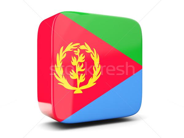 квадратный икона флаг Эритрея 3d иллюстрации изолированный Сток-фото © MikhailMishchenko