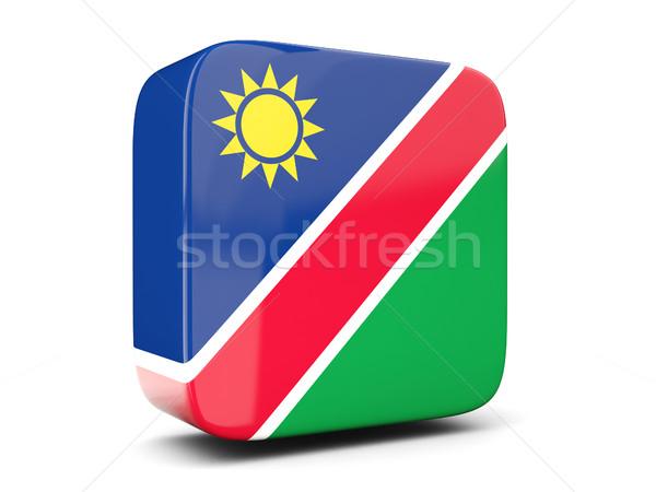 квадратный икона флаг Намибия 3d иллюстрации изолированный Сток-фото © MikhailMishchenko