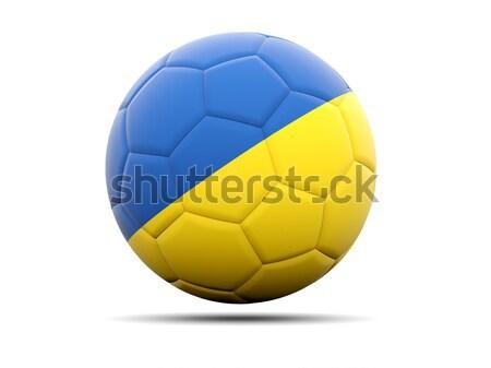 Futbol bayrak Ukrayna 3d illustration futbol spor Stok fotoğraf © MikhailMishchenko
