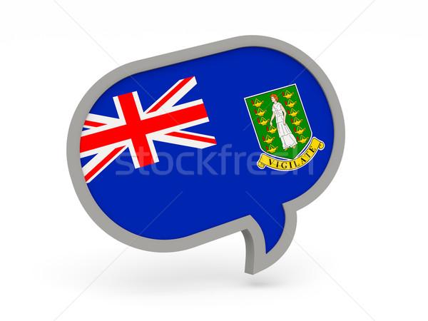 чате икона флаг Виргинские о-ва британский изолированный Сток-фото © MikhailMishchenko