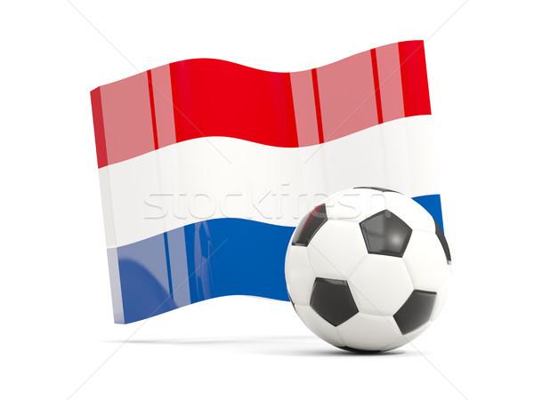 Fußball Flagge isoliert weiß 3D-Darstellung Stock foto © MikhailMishchenko