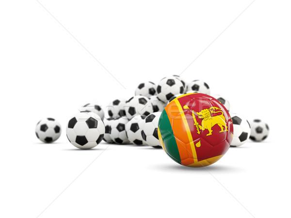 Football with flag of sri lanka isolated on white Stock photo © MikhailMishchenko