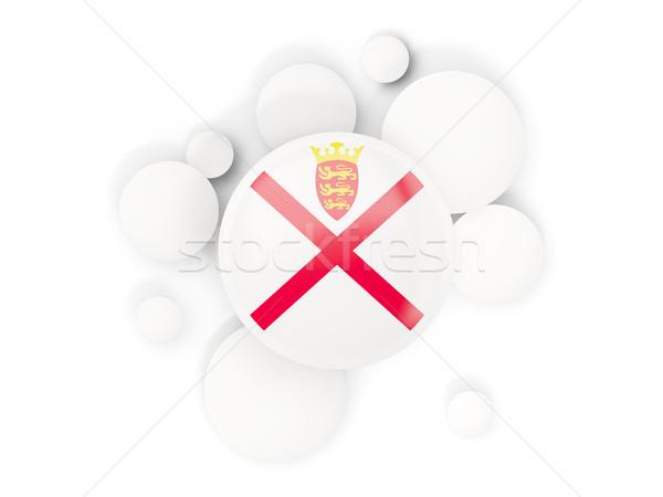 Round flag of jersey with circles pattern Stock photo © MikhailMishchenko