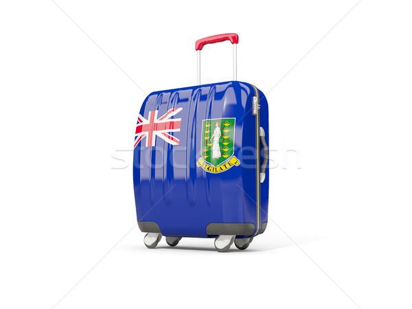 Bagaj bayrak bakire İngilizler bavul Stok fotoğraf © MikhailMishchenko