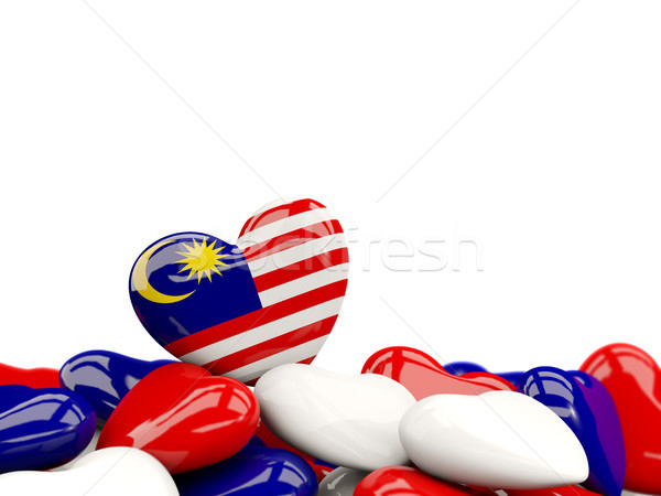 Stock photo: Heart with flag of malaysia