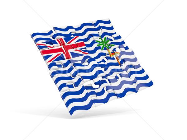 Puzzle flag of british indian ocean territory isolated on white Stock photo © MikhailMishchenko