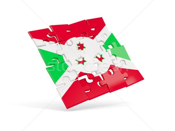 Quebra-cabeça bandeira Burundi isolado branco ilustração 3d Foto stock © MikhailMishchenko