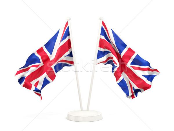 Due bandiere Regno Unito isolato bianco Foto d'archivio © MikhailMishchenko