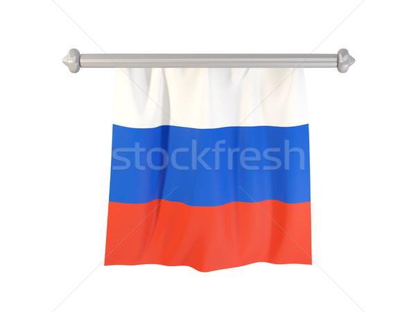 флаг Россия изолированный белый 3d иллюстрации знак Сток-фото © MikhailMishchenko