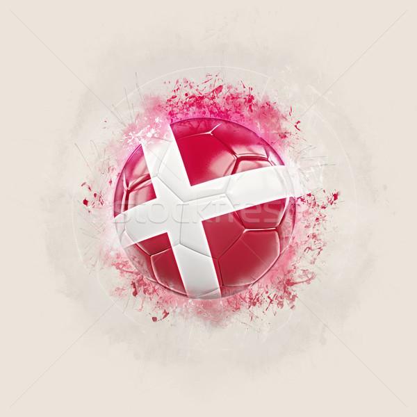Grunge futbol bayrak Danimarka 3d illustration dünya Stok fotoğraf © MikhailMishchenko