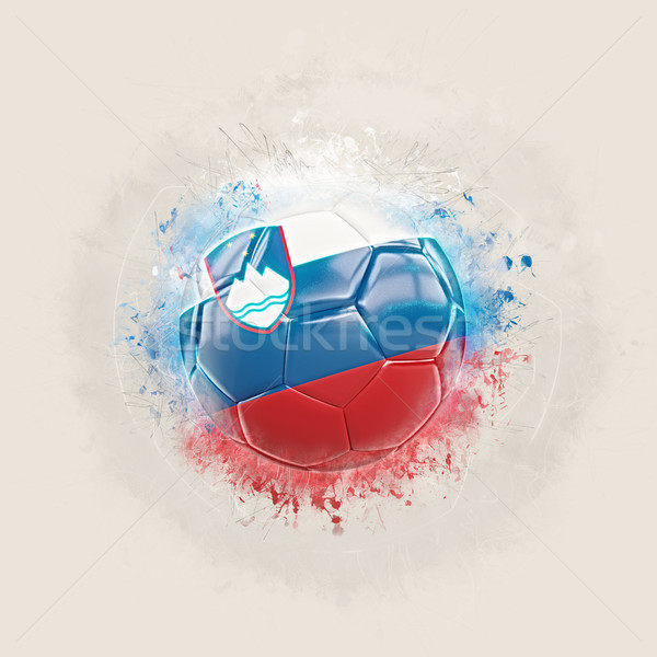 Grunge football with flag of slovenia Stock photo © MikhailMishchenko