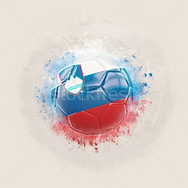 Grunge futball zászló Szlovénia 3d illusztráció világ Stock fotó © MikhailMishchenko