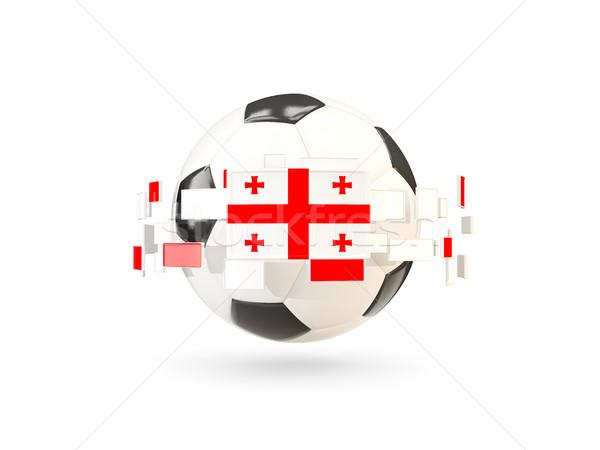 Futballabda vonal zászlók zászló Grúzia lebeg Stock fotó © MikhailMishchenko