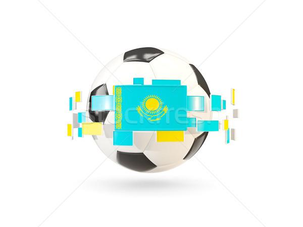 футбольным мячом линия флагами флаг Казахстан Сток-фото © MikhailMishchenko
