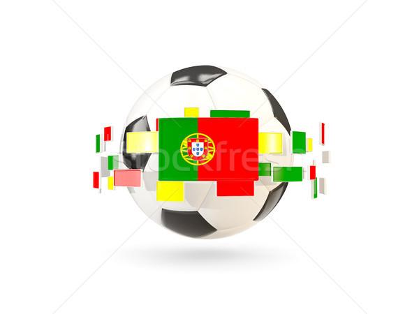 Futbol topu hat bayraklar bayrak Portekiz Stok fotoğraf © MikhailMishchenko