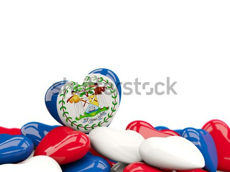 Heart shaped delaware state flag. United states local flags Stock photo © MikhailMishchenko