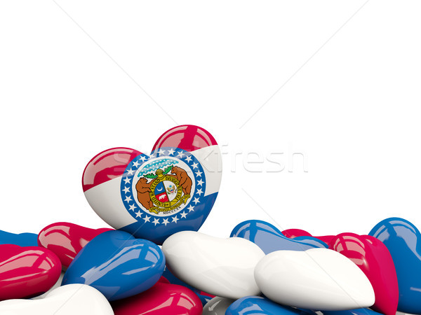 Corazón Misuri bandera Estados Unidos local Foto stock © MikhailMishchenko