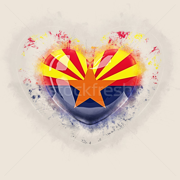 Arizona vlag grunge hart Verenigde Staten lokaal Stockfoto © MikhailMishchenko