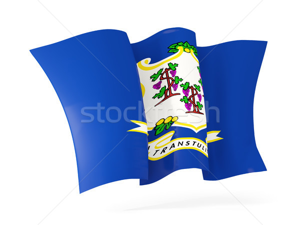 connecticut state flag waving icon close up. United states local Stock photo © MikhailMishchenko