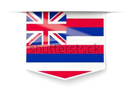 Havaí bandeira praça etiqueta sombra Estados Unidos Foto stock © MikhailMishchenko