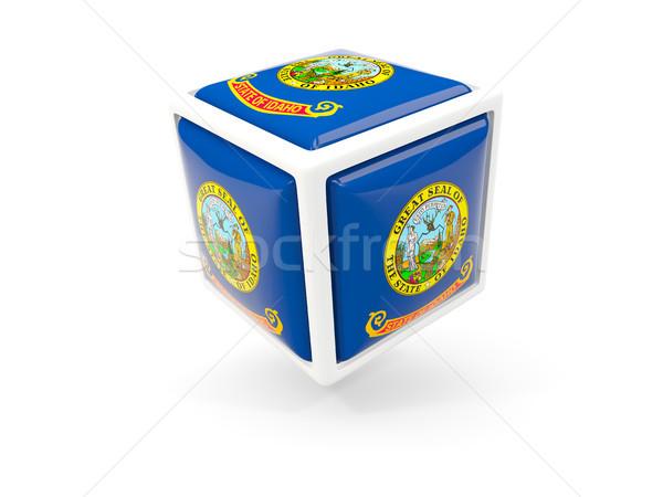idaho state flag in cube icon. United states local flags Stock photo © MikhailMishchenko