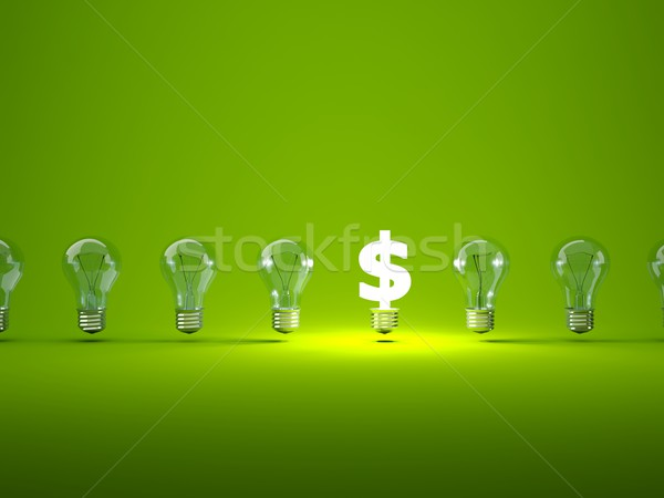 Luminous dollar sign with light bulbs Stock photo © MikhailMishchenko