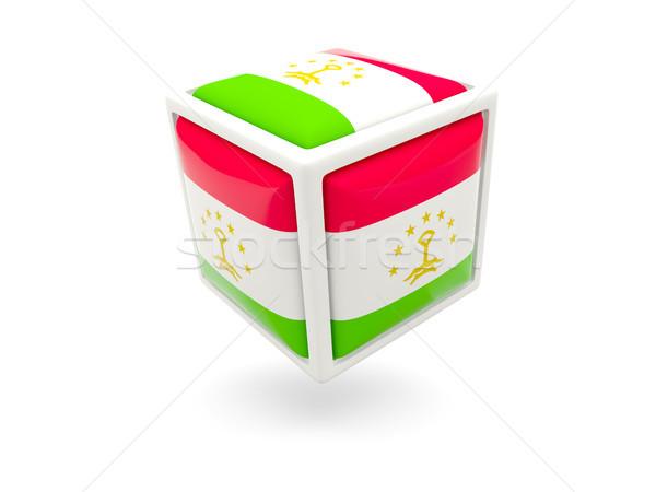Flag of tajikistan. Cube icon Stock photo © MikhailMishchenko