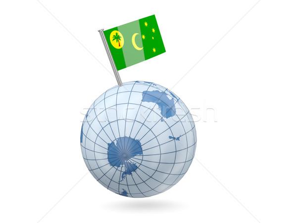 Globe with flag of cocos islands Stock photo © MikhailMishchenko