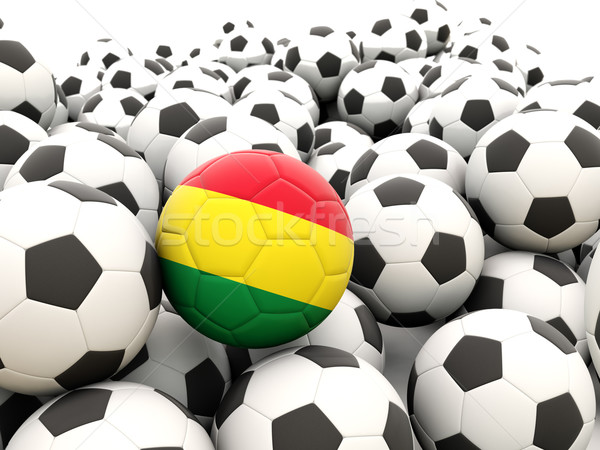 Futball zászló Bolívia rendszeres golyók nyár Stock fotó © MikhailMishchenko