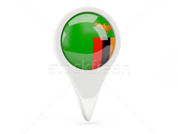 Stock fotó: Zászló · ikon · Zambia · izolált · fehér · térkép