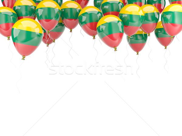 Balloon frame with flag of lithuania Stock photo © MikhailMishchenko