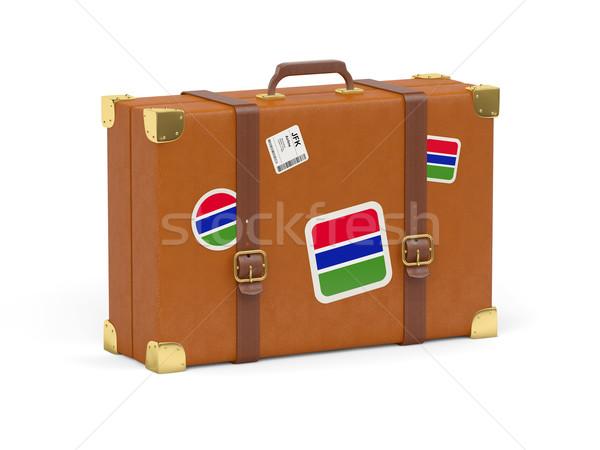 スーツケース フラグ ガンビア 旅行 孤立した 白 ストックフォト © MikhailMishchenko