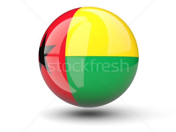 Ikon zászló Guinea izolált fehér utazás Stock fotó © MikhailMishchenko