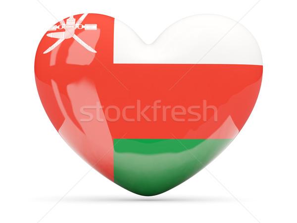 Kalp ikon bayrak Umman yalıtılmış Stok fotoğraf © MikhailMishchenko