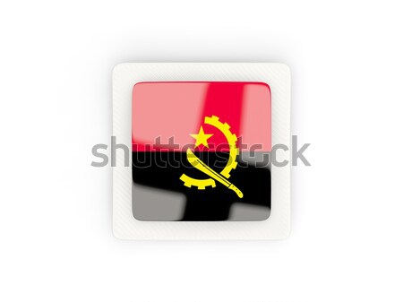 Square metal button with flag of angola Stock photo © MikhailMishchenko