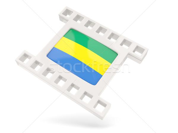 фильма икона флаг Габон изолированный белый Сток-фото © MikhailMishchenko