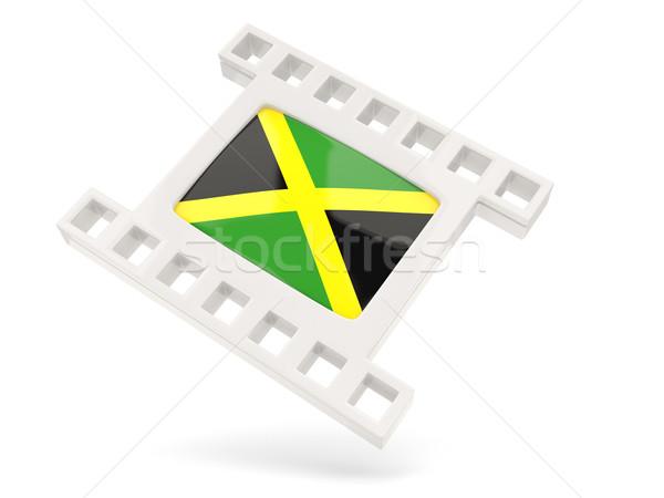 Film ikon bayrak Jamaika yalıtılmış beyaz Stok fotoğraf © MikhailMishchenko