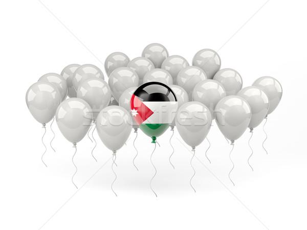 Air balloons with flag of jordan Stock photo © MikhailMishchenko