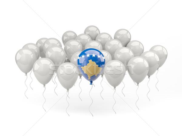 Ar balões bandeira Kosovo isolado branco Foto stock © MikhailMishchenko