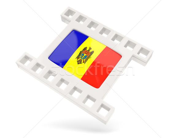 Film ikon zászló Moldova izolált fehér Stock fotó © MikhailMishchenko