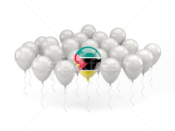 Air balloons with flag of mozambique Stock photo © MikhailMishchenko