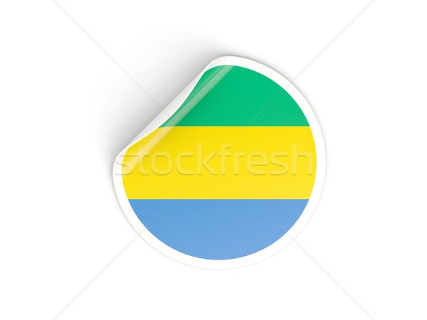 наклейку флаг Габон изолированный белый путешествия Сток-фото © MikhailMishchenko