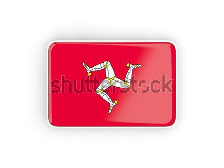 Square label with flag of isle of man Stock photo © MikhailMishchenko