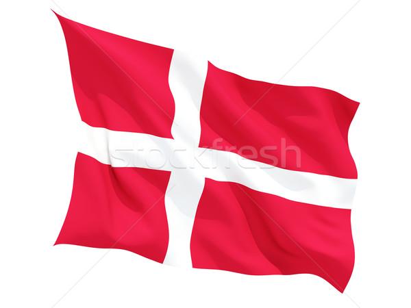 Bayrak Danimarka yalıtılmış beyaz Stok fotoğraf © MikhailMishchenko