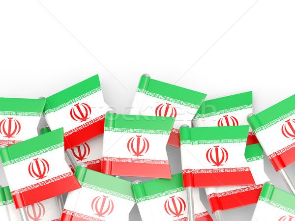 Zászló tő Irán izolált fehér világ Stock fotó © MikhailMishchenko
