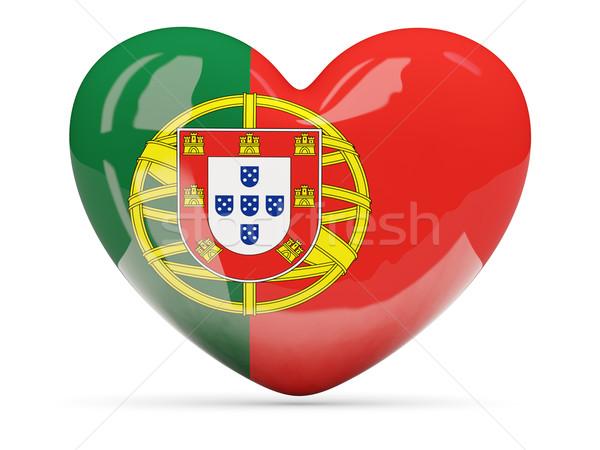Hart icon vlag Portugal geïsoleerd Stockfoto © MikhailMishchenko