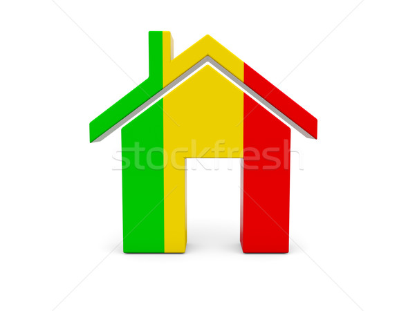 Home with flag of mali Stock photo © MikhailMishchenko