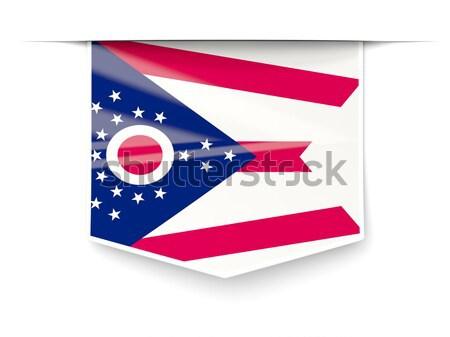 Zászló címke Chile izolált fehér felirat Stock fotó © MikhailMishchenko