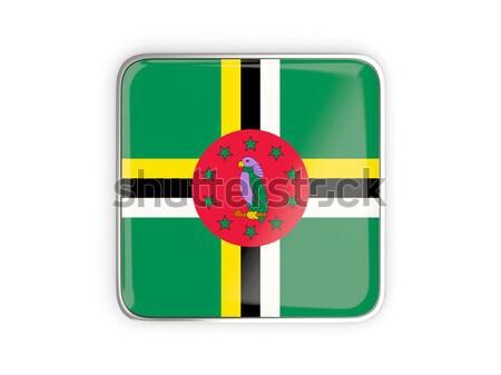 флаг Label Доминика изолированный белый знак Сток-фото © MikhailMishchenko